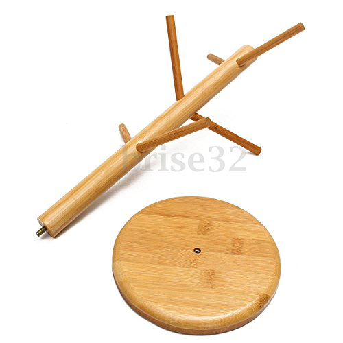 Homely 0757104496559 Mug Tree Stand Wood Cup Rack Cup