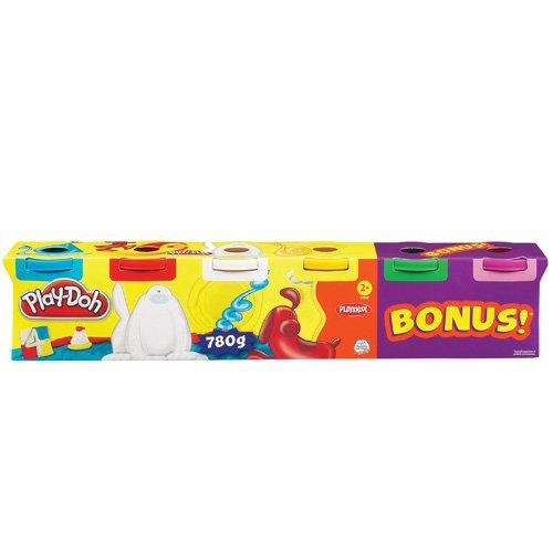 Play-Doh - Pack de 6 botes, juego de actividades creativas (Hasbro 23565148)