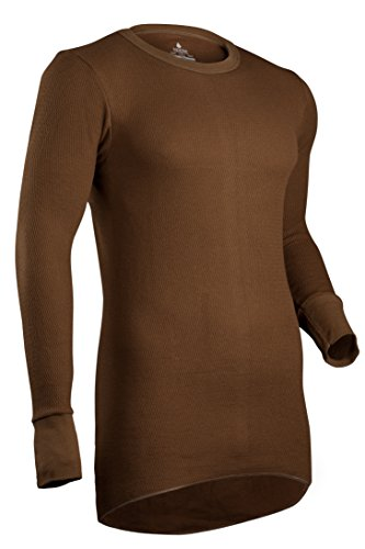 Indera Men's Icetex Cotton Outside/Fleeced Silvadur Inside Top, Khaki, X-Large (Arctex Thermal Underwear compare prices)