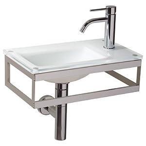 WS Bath Collections Pocieta 665811 Linea Pocieta Bathroom Sink Sink Finish: White Milk, Faucet Mount: Single Hole