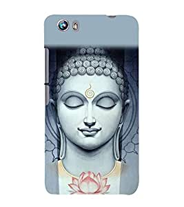 Buddha Wallpaper 3D Hard Polycarbonate Designer Back Case Cover for Micromax Canvas Fire 4 A107