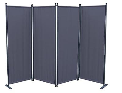 Paravent 4tlg. Grau Sichtschutzwand von Grasekamp - Gartenmöbel von Du und Dein Garten
