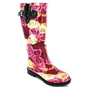 Luxury rose print wellie