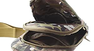 Outdoor Tactical Oxford Fabric Chest Bag - Style A, Italy Camouflage