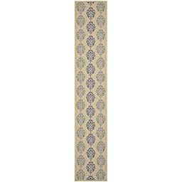 Safavieh Courtyard Collection CY2720-3101 Natural and Blue Indoor/ Outdoor Runner, 2 feet 3 inches by 12 feet (2\'3\