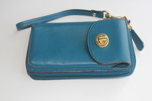 coach Campbell Leather Universal Zippy Wallet F50070