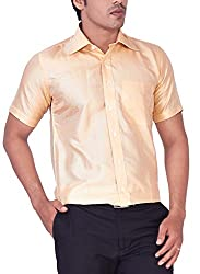Mark Anderson Men's Raw Silk Gold Shirt