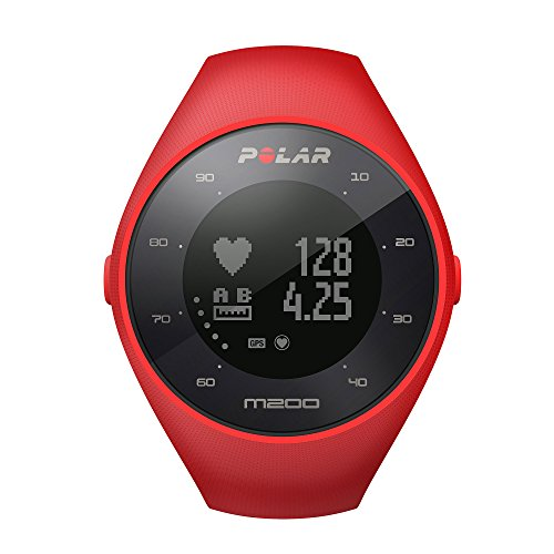 Polar-M200-GPS-Running-Watch-with-Wrist-Based-Heart-Rate-Red-MediumLarge