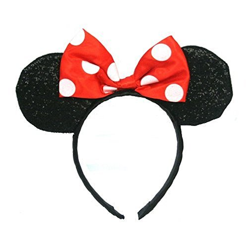 Minnie Mouse Sparkled Ears Headband Costume Accessory - 1