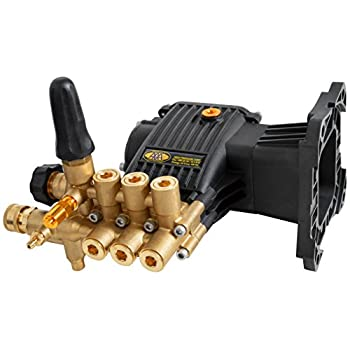 SIMPSON Cleaning 90039 Triplex Plunger Horizontal Pressure Washer Replacement Pump 9.4GA13 4000 PSI @ 3.3 GPM with Brass Head and PowerBoost Technology