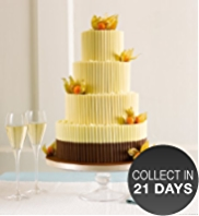 White Chocolate Curls Wedding Cake