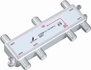 DXアンテナ 屋内用6分配器 1端子通電 6DE1
