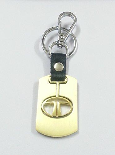 eShop24x7 GOLD Alloy metal steel imported key chain key ring car logo for TATA for Nano Bolt Zest Vista Indica Manza Indigo Safari Storme Safari Dicor Sumo Gold Sumo Grande Venture Xenon XT Aria Movus