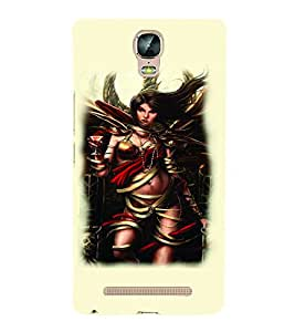PrintVisa Hot & Sexy Angel Girl 3D Hard Polycarbonate Designer Back Case Cover for Gionee Marathon M5 Plus