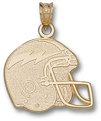 Air Force Academy Falcons Flat Helmet Pendant - 14KT Gold Jewelry by Logo Art