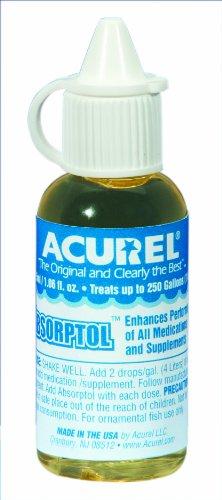 Imagen de Acurel LLC Absorptol 25-ml, acuario y tratamiento de agua de estanque, trata 250 galones