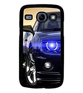 Fuson Premium Blue Car Metal Printed with Hard Plastic Back Case Cover for Samsung Galaxy Core i8260 i8262