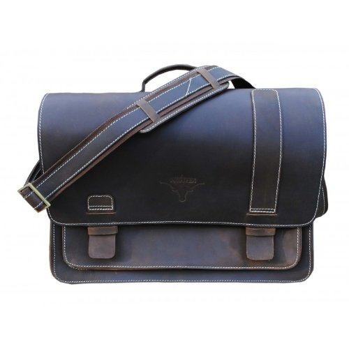 Delphi Leather Black Portfolio Bag-04 LH-PB-04