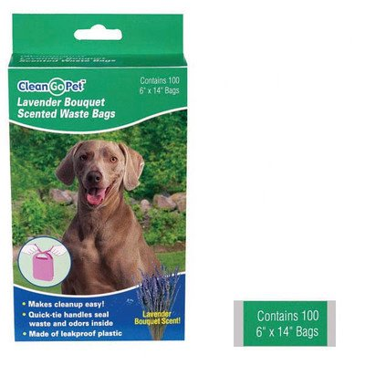 Lavender Scent Dog Waste Bags  Size: 100 Count