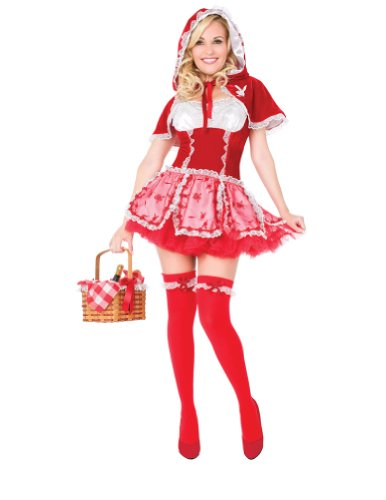 Playboy Little Red Vixen Adult Costume Sm Adult Womens Costume