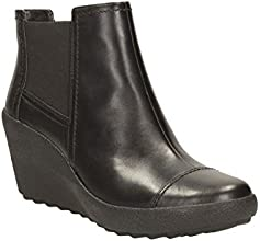 Clarks Womens Casual Clarks Nice Music Leather Boots In Black