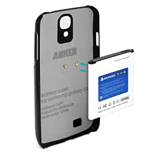 Anker® 7600mAh Extended Battery Case for Samsung Galaxy S4, I9505, L720 (Sprint), I337 (AT&T), M919 (T-Mobile), Not NFC Capable, Not for Galaxy S4 Active [18-Month Warranty]
