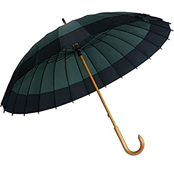 Kung Fu Smith Vintage Large Japanese Windproof Wooden Rain Umbrella