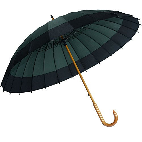 Kung Fu Smith Vintage Large Japanese Windproof Wooden Rain Umbrella 2