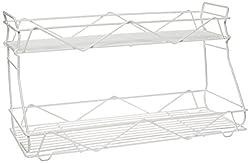 Panacea Grayline 41222 2-Shelf Vanity or Tank Top Organizer, White