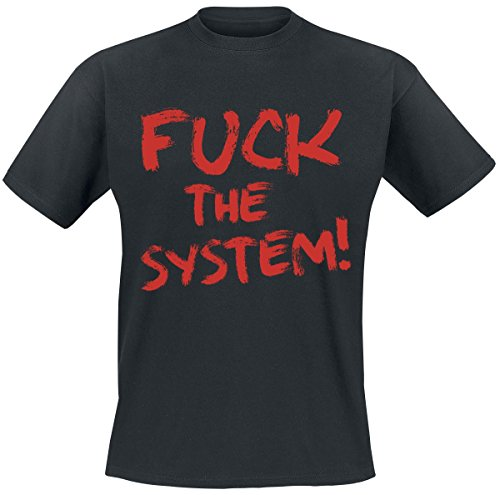 Fuck The System! T-Shirt nero 3XL