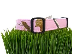 Realtree Dog Collar Fabric Pellon Camo Pet Collar Handmade in USA