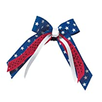 Sequin Stars and Stripes Bow