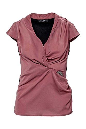 Liu Jo Top TOP JERSEY M/ALETTA, donna, Colore: Rosso Bordeaux, Taglia: 40