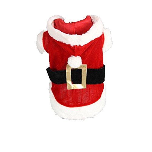 TANG imp Cucciolo Cane Rosso Natale Vestito Felpe Hoodies Vestiti Cane Inverno Caldo Cappotto Tuta XS