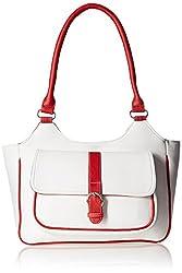 Fantosy Women's Handbag (White and Red) (FNB-383)