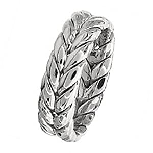 Hand Braided Wedding Ring - Size 7.25