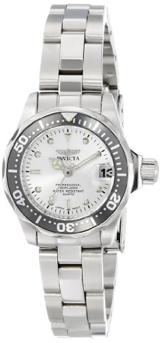 Женские наручные часы Invicta Women's INVICTA-14985 Pro Diver Analog Display Japanese Quartz Silver Watch