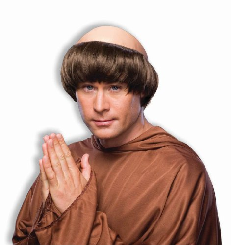 Priest Monk Brown Wig Costume Accessory