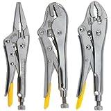 Stanley 94-960 3-Piece Locking Pliers Set