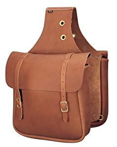 Weaver Leather Chap Leather Saddle Bag, Brown