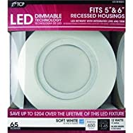 TCPRL12DR6527KLED Retrofit Recessed Light Kit-12W 5/6
