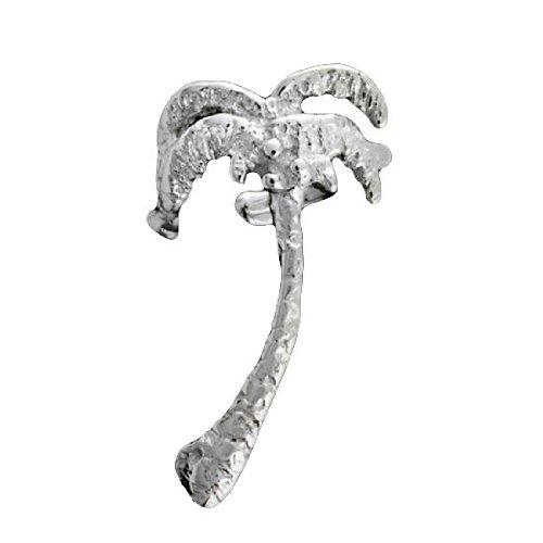 Sterling Silver Left Palm Tree Ear Cuff