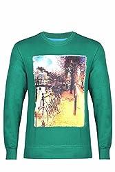 UV&W Full Sleeve Round Neck Octgreen Sweatshirt