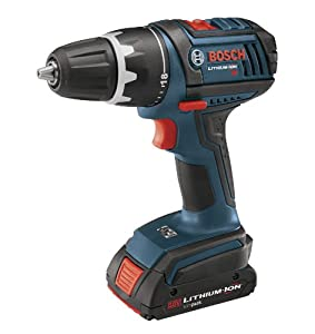 Bosch DDS180-02 18-Volt Lithium-Ion 1/2-Inch Compact Tough Drill/Driver Kit with 2 Batteries, Charger and Case