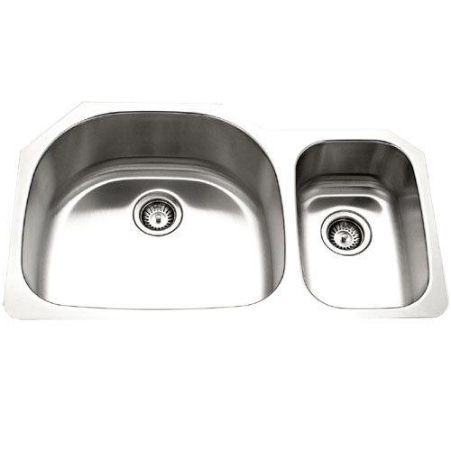 Houzer MCS-3521SR-1 Medallion Series Undermount Stainless Steel Double Bowl Kitchen Sink