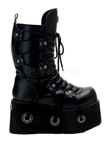 Mens Black Gothic Demonia Boot - 10