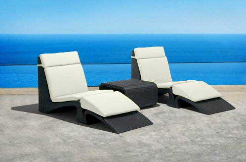 Outdoor Wicker Patio Furniture Pool Lounge All Weather 3 Pc Resin Wicker Chair \u0026 Footstool Recliner & Lounge Archives « Recliners Sale Recliners Sale islam-shia.org