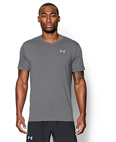 Under Armour Men's Streaker Run V-Neck T-Shirt, Graphite (040), Medium