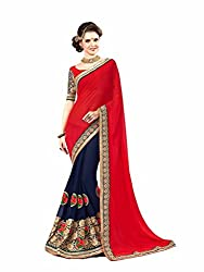 Bikaw Embroidered Red Georgette Party Wear Saree - BT-1501-GM