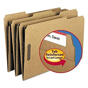 New-Smead 19837 - 17 Point Kraft Folders, Two Fasteners, 1/3 Cut Top Tab, Legal, Brown, 50/Box - SMD19837